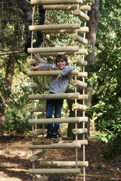 Because we create Rope Ladders with little platforms at Treehouse Life