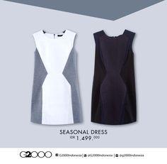 For an instan elegant feminine, wear #G2000Fall15 monochrome dress