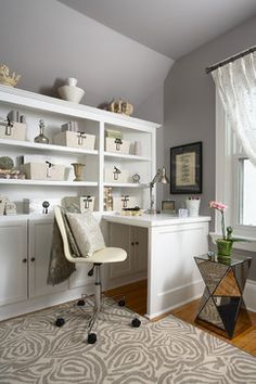 home office ideas | Small Home Office Ideas Paint Color Furniture Storage Design Cabinets