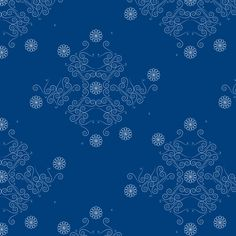 Estampa Têxtil 'Arabescos azuis' por Ana Isa Zanesco