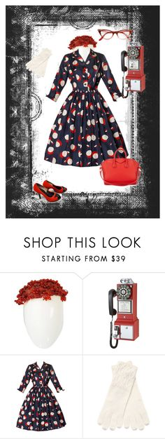 """""""1950 Throwback"""" by mary-kay-de-jesus ❤ liked on Polyvore featuring Christian Dior, Crosley, Qi Cashmere and Givenchy"""