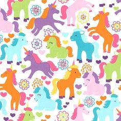 Magic Unicorns Fabric - Michael Miller