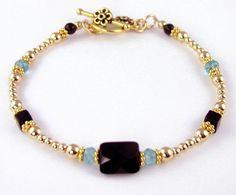 beaded bracelets   Beaded Bracelets: Handmade Gemstone Silver Gold Copper Custom Wire ...