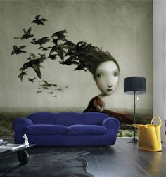 Homebuildlife: Inkiostro Bianco: artistic wall coverings