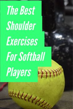 Stronger shoulders will improve pitching and throwing velocity and reduce shoulder soreness and pain. Learn the best exercises for softball players in this article. Softball Workouts, Softball Drills, Slow Pitch Softball, Softball Players, Fastpitch Softball, Team Player, Ab Workouts, Volleyball, Softball Dugout