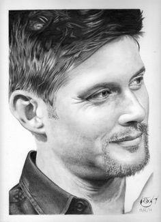 "Drawing actor Jensen Ackles, star of TV Series ""Supernatural"""