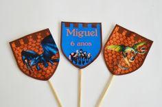 Tags de mesa Festa Como Treinar Seu Dragão 1/2 | Design Festeiro