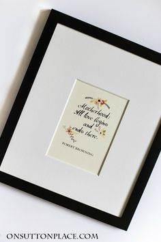 Motherhood quote from Robert Browning. This free printable art makes the perfect Mother's Day gift!