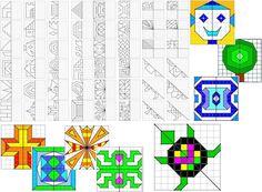 Remue Méninge: Géométrie : Symétrie cycle 2 cycle 3 Geometry Pattern, Pixel Art, Origami, Preschool, Elephant, Activities, Teaching, Education, Voici