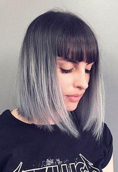 Ombré grey.