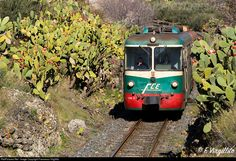 ADe13+ADeXX Ferrovia Circumetnea (FCE) ADe at Adrano, Italy by Francesco Virgillito