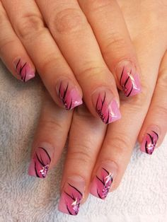 French Manicure with Pink Decorated Tips  - sweet nails design (7).jpg