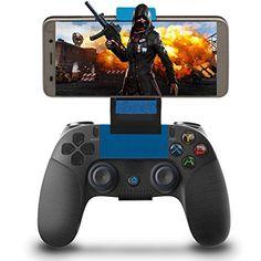 Manette pour Android iOS Sans Fil Maegoo Wireless Bluetooth Mobile de Jeu Manette Gamepad Joystick avec Support Rétractable Compatible pour iOS iPhone iPad Android Téléphone/Tablette