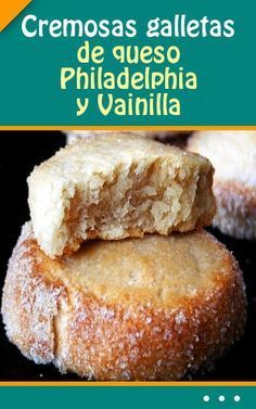 Cremosas galletas de queso Philadelphia y Vainilla Mini Cakes, Cupcake Cakes, Cupcakes, Mexican Food Recipes, Sweet Recipes, Baking Recipes, Cookie Recipes, Cookie Desserts, Dessert Recipes