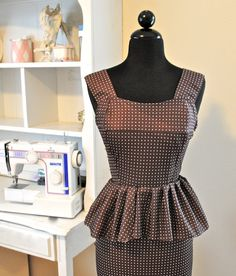 Trash To Couture: Mens shirt refashion: peplum dress