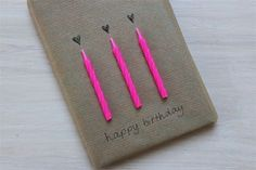diy birthday gift wrap with candles and kraft paper