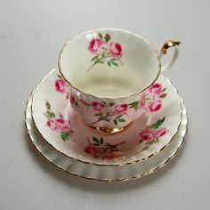 Vintage Royal Albert pastel Pink rose pattern 4365   royal Albert ...