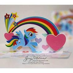 Resultado de imagen para invitaciones de my little pony hechas a mano