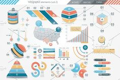 @newkoko2020 Infographic Elements (v2) by Infographic Paradise on @creativemarket #infographic #infographics #bundle #design #template #megabundle #bigbundle #presentation #vector #business #layout #creative #graph #information #visualization