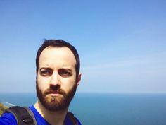 Hi . #sky #sun #sea #selfie #bluesky #skylovers #enjoytheblue #waves #paradise #landscape #nature #man #face #trekking #hiking #climbing #sport #mare #italianman #italy #italia #europe #seaside #traveling #travelling #travel #vsco #vscocam #instagramitalia #love