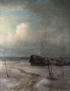 Alexei Savrasov - Early Spring (oil on canvas, c.1890)