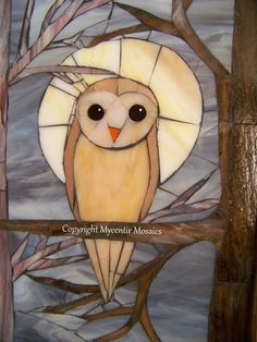 """MOONLIT SOUL"" Wall Art Recycled Stained Glass By: mycentirmosaics,"
