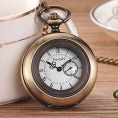 $9.15 (Buy here: https://alitems.com/g/1e8d114494ebda23ff8b16525dc3e8/?i=5&ulp=https%3A%2F%2Fwww.aliexpress.com%2Fitem%2FRetro-Steampunk-Bronze-Mens-Pocket-Watch-With-Chain-Hollow-Roman-Dial-The-Seconds-Quartz-Watches-Mens%2F32719620400.html ) Retro Steampunk Bronze Mens Pocket Watch With Chain Hollow Roman Dial The Seconds Quartz Watches Mens Womens  Relogio de bolso for just $9.15
