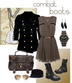 """""""combat boots"""" by asorana ❤ liked on Polyvore"""