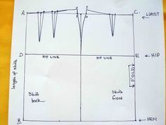 So Sew Easy - drawing your own pencil skirt sloper pattern.  Its so easy - spreadsheet provided.