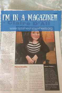 Sharing about my article in Able Scotland magazine.