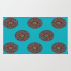 Mandala Area & Throw Rug by Mcbee Threads - $28.00 The perfect Rug for spicing up your bedroom, bathroom, or front door. It comes in three different sizes, 2X3, 3X5,4X6.