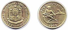5 centavo coin 1958
