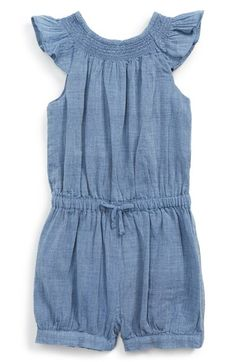Ralph Lauren Chambray Romper (Baby Girls) available at #Nordstrom