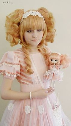 Sweet lolita and her matching doll.