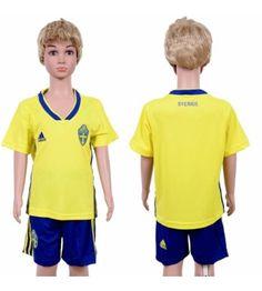 Youth Sweden Blank Home Yellow Short Sleeves 2018 World Cup Soccer Jerseys Uniform Soccer Online, Jersey Uniform, Kids Soccer, Amazing Shopping, Yellow Shorts, Fifa World Cup, Sweden, Sportswear, Polo Ralph Lauren
