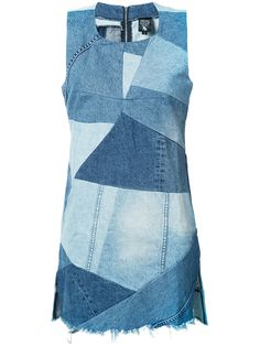 Prps джинсовое лоскутное платье