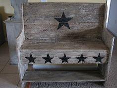 Barn Creations: Old Barn Wood Bench