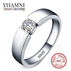 90%オフ!!! 100% 925スターリングシルバーリングsona czダイヤモンドの婚約指輪男性と女性ウェディングジュエリーリングサイズ6-11 rd10