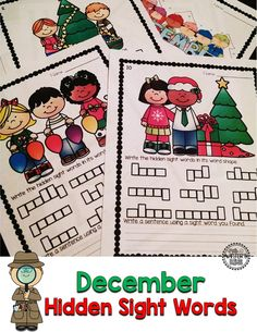 Hidden Sight Words~ Your students will be engaged as they use a magnifying glass to recognize, practice reading, spelling, and write the hidden sight words.