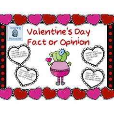 Valentine's Day Fact or Opinion hearts