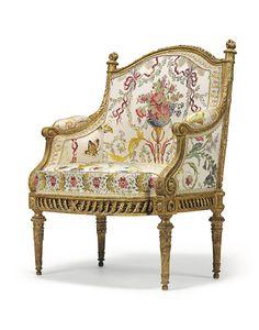 Marie Antoinette's 'fauteuil en bergère' (1780), Jacques Gondouin.