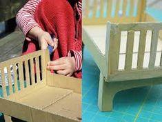dolls bed diy cardboard - Google Search Diy Cardboard, Outdoor Chairs, Outdoor Decor, Diy Bed, Diy Doll, Flooring, Dolls, Google Search, Home Decor