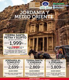 Estás listo para un recorrido por #Israel - #Jordania - #Egipto?  VUELO INCLUIDO  Qué harás con este paquete... Visita al Santuario del Libro en el Museo de Israel, donde están expuestos los manuscritos encontrados en el #MarMuerto. Visita El Monte de los Olivos, el Huerto de #Getsemani, #ElCalvario y el Santo Sepulcro.  SALIDAS CON VUELO INCLUIDO:  27 de Septiembre/ 06 de Noviembre/ 21 de Diciembre 2015