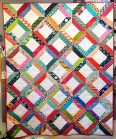 Diane Harris's Scrappy Duo quilt, from the Quiltmaker blog. Pattern by Fons and Porter.