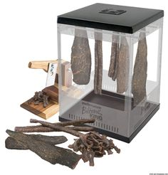 How to make a biltong box for making your own biltong or dry wors at home. Buying a dehydrator. Using your oven to make biltong at home. Meat Dehydrator, Dehydrator Recipes, Meat Box, Biltong, Dried Fruit, Preserves, Canning, How To Make, Cummins