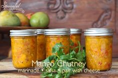 Sweet & Spicy Mango Chutney that you can use with seafood, meat or for your next chip & salsa craving!