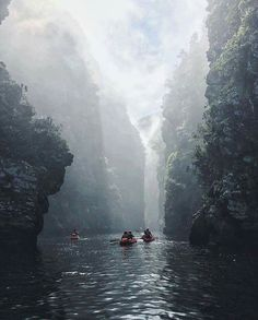 Kayaking through Storms River, Tsitsikamma National Park, South Africa. Photo by Digby and the Lullaby