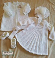 Completino da beb/è per il battesimo Vivaki colore: bianco