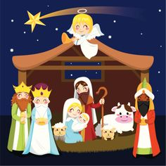 Three wise men bring presents to Jesus in Christmas Nativity Scene - stock vector Christmas Skits, Christmas Pageant, Christmas Program, Christmas Nativity Scene, Childrens Christmas, Preschool Christmas, Christmas Activities, A Christmas Story, Kids Christmas