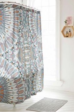 Shop Magical Thinking Otto Mirrored Shower Curtain at Urban Outfitters today. Cute Shower Curtains, Magical Thinking, Shower Accessories, Wedding Dress Trends, Bath Decor, Beautiful Space, Colour Schemes, Ideal Home, Home Deco